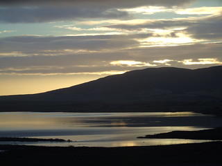 Sunrise over Harray loch