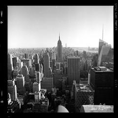 66 (louis.r.zurn) Tags: hasselblad500cm hasselblad 500cm 6x6 120 film 120film newyorkcity zeissdistagon zeiss50mmc zeiss50mmdistagon hp5 ilfordhp5 hp5ei800 ilfordfilm filmphotography streetphotography nycphotography newyorkcityfilmphotography hc110 blackandwhite blackandwhitefilm homedeveloping cityscape empirestatebuilding city building sky skyline skyscraper
