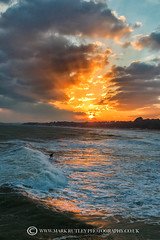 SURFS UP......!! DESPITE THE FREEZING WEATHER! (mark_rutley) Tags: bournemouth dorset surf surfing dude silversurfer surfsup watersports sea sunset clouds sky coast coastal visitdorset