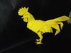Rooster - Kamiya Satoshi (GGIamBatman) Tags: origami papiroflexia rooster kamiya satoshi