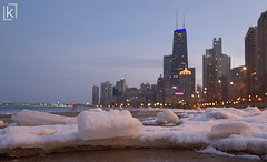 Icy Chicago! (kshitij.lawate) Tags: snow snowy ice frozen chicago360 360chicago chicago winter 2018 snowflakes building clarity skyscrapper lake michigan michiganlake illinois