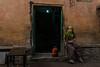 Jaipur. Rajasthan. India. (Tito Dalmau) Tags: street girl house door jaipur rajasthan india