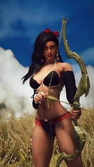 Saffron | No Limits (noirslate) Tags: skyrim girl redguard sexy nude nsfw portrait landscape character 4k wallpaper video game screenshot