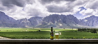 Beer with a view, Slanghoek, South Africa