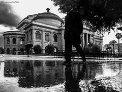 Walking under the rain (alessandrochiolo) Tags: sicilia siciliabedda street streetphoto sky streetphotografy clouds cloud rain way palermo biancoenero bw bn blackandwhite fujix30 fuji fujifilm