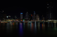 untitled (ChrisRSouthland) Tags: longexposure cityscape nightphotography night nightlights river citylights nikond800 zeissdistagon21mmf28 brisbane
