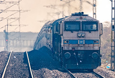 UBL EMD DG4 12001 with Train 12703 (cyberdoctorind) Tags: ifttt 500px railway rust railroad track freight train wdg4 indian railways locomotives stations yards running ops hubli diesel loco shed