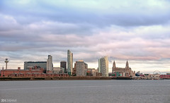 Liverpool Waterfront from the river (Bob Edwards Photography - Picture Liverpool) Tags: liverpool waterfront mersey ferry river sunset eveningbobedwardsphotography merseyside