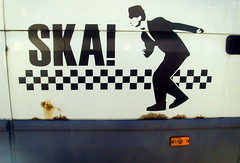 Ska van in Preston (Tony Worrall) Tags: buy sell bought photo onsale stock preston lancs lancashire city england northern uk update place location north visit area county attraction open stream tour country welovethenorth nw northwest britain english british gb capture outside outdoors caught shoot shot picture captured sign signage ska dance record music van words written nutty dancing