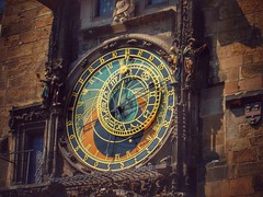 Astronomical clock. (Fotofricassee) Tags: colorsinourworld architecture wall league astronomical planets sun historyantiquities