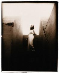 Eva (Jason Andrescavage) Tags: eva darkroom large format view camera 8x10 silver print sepia model woman dress bunker san francisco sanfrancisco ilford