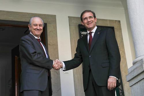 Pedro Passos Coelho e Rui Rio na Sede Nacional