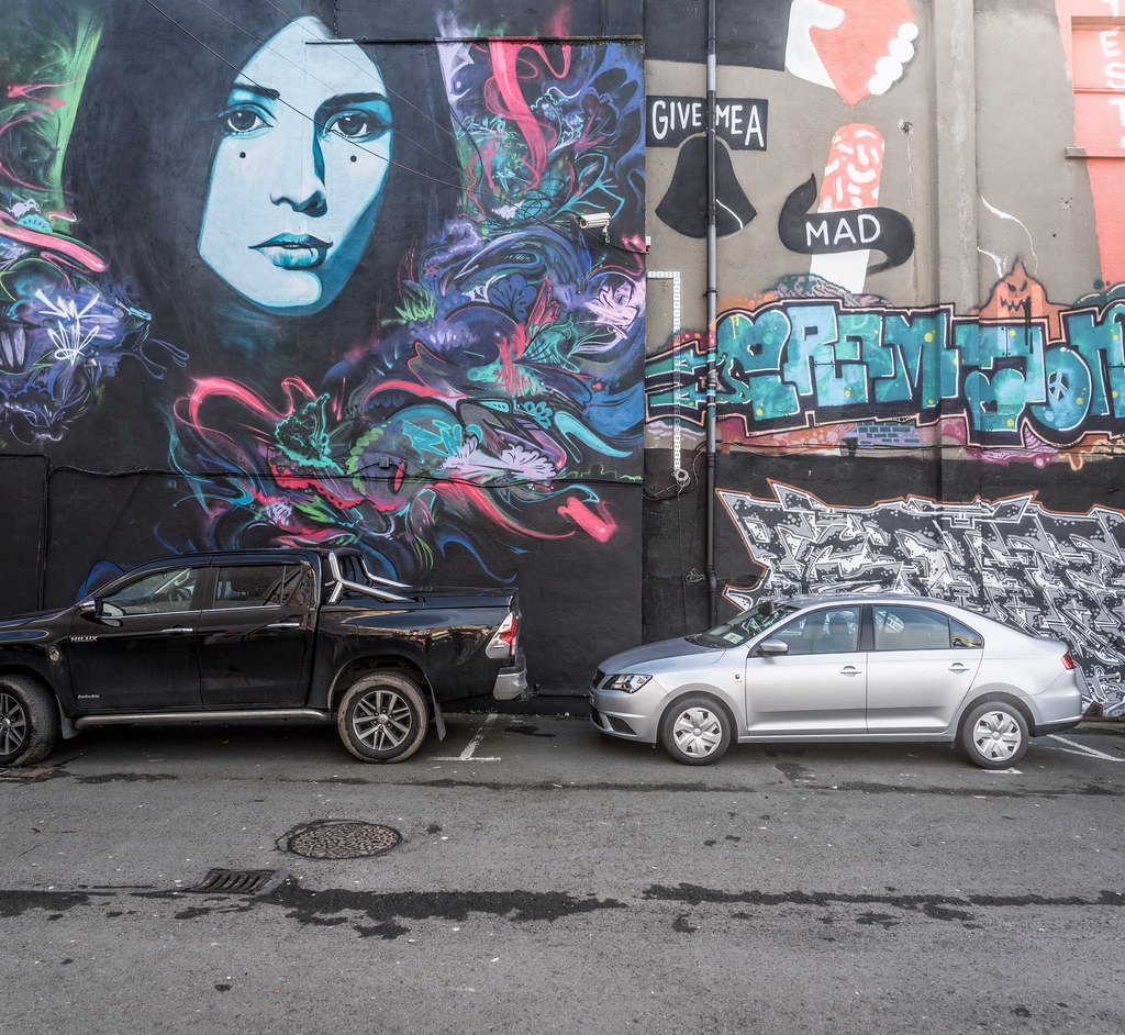 STREET ART AT THE TIVOLI CAR PARK IN DUBLIN [LAST CHANCE BEFORE THE SITE IS REDEVELOPED]-135614