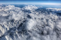 Mont Blanc at cruising altitude (Gunn Shots.) Tags: montblanc alps mountains clouds