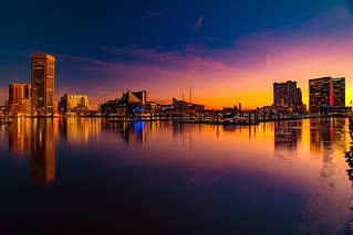 Frozen sunrise Baltimore