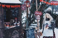 on the winter street V (AzureFantoccini) Tags: bjd street christmas winter snow doll abjd balljointeddoll sd outdoor miniature diorama supia jiin chloe cafe