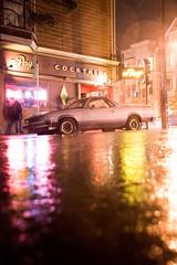 (breakbeatbilly) Tags: thepage divisadero elcamino classic vintage car automobile neonsign reflective reflection nightphotography night streetphotography street lowerhaight man smoking voyeur