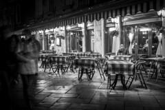 Venice Restaurant (Cristiano Drago) Tags: cristianodrago canon 650d venezia venezianellanotte venezianotturna venice veneto veniceinthenight venicenight venezianotte restaurant ristorante man uomo blackwhite blackandwhite black white biancoenero bianco nero grigio grey italia italy tripnord trip tavolini tavoli table