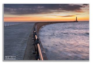 Sunrise at Roker Pier, Sunderland