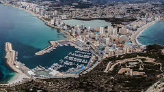 Calpe from the Penon (Craig Hannah) Tags: calpe penondeifach spain mountain hill lump rock view panorama town above craighannah february 2018 costablanca holiday winter sea summit top walk stroll wander