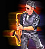 sax 5th ave. .... (daystar297) Tags: sax saxophone horn jazz blues music musician performer streetportrait portrait motion photoshop nikon sunglasses cool