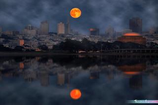 Reflections of The Dark Night, San Francisco *A Beautiful Nature*