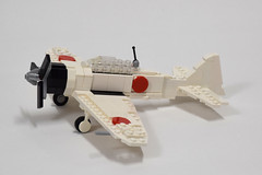 Mitsubishi A6M2 Zero update (1) (Dornbi) Tags: lego aircraft wwii mitsubishi zero a6m2
