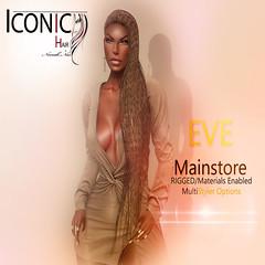 ICONIC EVE (Neveah Niu /The ICONIC Owner) Tags: iconic braids hair 3d mesh blender photoshop tricolor video games virtual worlds content mainstore uptown second life avatar