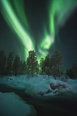 Janiskoski (AntiAtlas) Tags: auroraborealis aurora northernlights nightscape nightphotography nightsky night landscape waterfall longexposure river astrophotography light stars
