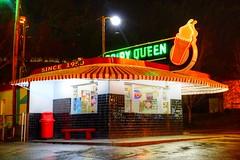 An Original Dairy Queen (esywlkr) Tags: dq originl dairyqueen building neon sign artifact