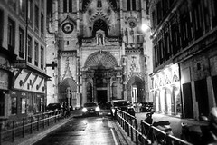 The car (llewelynjarvis) Tags: blackwhite grey greyscale reverent peace positivevibes contrast passion panasonic dmcgf5 lumix g art frozen time aperture ancient cathedral church lyon france artwork pic picture photo photography mood followme camera digital liveyourlife artphotography photographyislifee photographylovers photooftheday yes city goodday freetime focus blackandwhite daily hustle life death faith success motivation motivated night iso shutterspeed stonework architecture building sky tower road car headlights walls oncoming monochrome lyonnaise