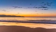 Sunrise Seascape (Merrillie) Tags: daybreak sunrise headland australia newsouthwales smooth uminabeach sun blue morning ocean sea umina landscape earlymorning nsw sky seascape waterscape nature water dawn