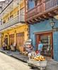 Colombia. Vicino al mare si trova la Città vecchia, fondata nel XVI secolo: circondata da mura, è caratterizzata da piazze, stradine acciottolate e colorati edifici coloniali. (maresaDOs) Tags: cartagenadeindias colombia sudamerica 2015 vacanza vacation street cartagena