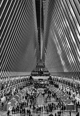 Inside The Oculus (HarrySchue) Tags: newyorkcity oculus blackwhite nikon d800e sigmalens architecture nyc