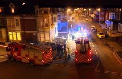 20180206 Blackpool Fire Lord Street (blackpoolbeach) Tags: blackpool fire 99 97 lord street flats apartments lancashirefireandrescue smoke night streetlights