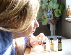 Precious Fragrences (Room With A View) Tags: oils perfume bottles hand nose me odc selfportrait selfie light hair blond