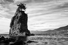 Shapes by the Sea (Bobby Palosaari) Tags: siwash siwashrock stanleypark vancouver landmark monolith natural nature rock sea seascape seashore tree water