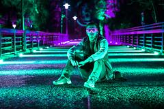 Fancy (Ruffyruffneck) Tags: fancy lights neon night bridge gruga parkleuchten creative sonyalpha portrait sel50f18
