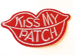 Patch KISS MY PATCH, Aufbügler, ca. 80mm (patchmonkeys) Tags: lippen lips mund kiss kuss kussmund