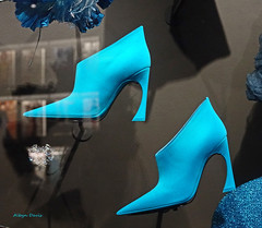 blue (albyn.davis) Tags: shoes fashion dior paris exhibit museum louvre color blue vivid vibrant bright