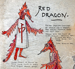 Red Dragon Costume Design (detail) (Madison Historical Society (CT-USA)) Tags: madisonhistoricalsociety madisonhistory mhs madison conn connecticut ct connecticutscenes country usa newengland nikon nikond600 d600 bobgundersen old historical history museum jitneyplayers woodlandgardenplays barntheatre theplaybarn interesting image outside outdoor exterior photo picture places people performer costume shoreline shot scene scenes bostonpostroad route1 flickr design art constancegrenellewilcox constancewilcoxpignatelli princess alicekeatingcheney
