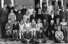 Class Photo (theirhistory) Tags: child kid boy girl teacher suit jacket trousers shirt wellies tie wellingtons shoes dress