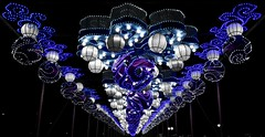 Grand Entrance Overhead (tim.perdue) Tags: ohio chinese lantern festival 2017 columbus exposition center fairgrounds grand entrance overhead lights multicolored colors colorful flower globe sphere pattern repetition vanishing point blue purple white above illumination winter holiday shape