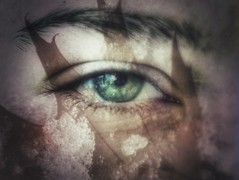Day9 (a_salnikova) Tags: retouch oldlens 365project 365 day9 eye leave winter multipleexposure