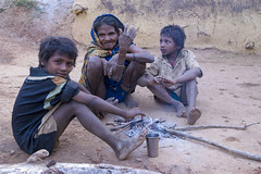 Maikal hills - Chhattisgarh - India (wietsej) Tags: maikal hills chhattisgarh india monika minolta tamron 1750 family morning fire tribal rural village wietse jongsma bhoramdeo