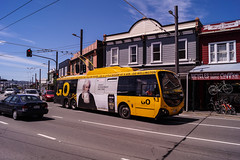 Netwown - Riddiford Street (andrewsurgenor) Tags: transit transport publictransport nzbus gowellington electric trackless trolleybus trolleybuses wellington nz streetscenes bus buses omnibus yellow obus busse citytransport city urban newzealand