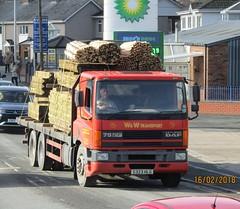 W&W transport S323 HLG at Newtown (joshhowells27) Tags: lorry daf cf 75cf welshpool flatbed ww