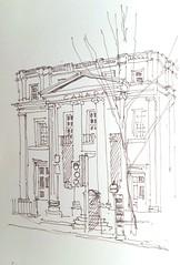 Canada House, Trafalgar Square,  London (Blue York) Tags: allantadams pen drawing architecturalsketch moleskine sketchbook trafalgarsquare canadahouse london