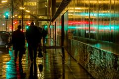It often rains in Northern German Cities (ToDoe) Tags: hamburg lights licht night nacht nachtaufnahme gold golden red green germany street walking reflection reflexion spiegelung