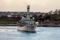 HMS Westminster 5th November 2017 #8 (JDurston2009) Tags: f237 hmswestminster devon dukeclass frigate plymouth royalnavy type23 warship hamoaze rivertamar